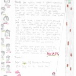 Thank you letter from Broxburn Primary School