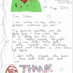 Thank you letter from ESMS Junior School